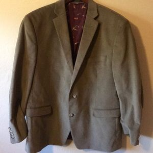 Men's corduroy patch elbow blazer